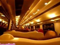 Amateur British Blonde Fingering On The Train