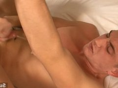 Lusty gay gets nailed and cummed