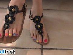 Teasing Her Beautiful Toes