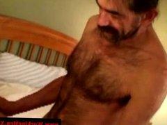 Straight bear rednecks toy anal play