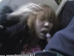 Perv Fucks a Teen in a Crowded Train!