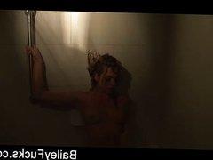 Bailey's naughty shower fun