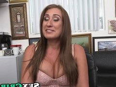 Big tits big ass Skyler Luv casting for cock