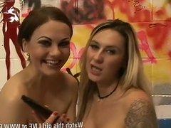 Jessica Lloyd & Tina Kay in paddling pool 4