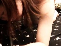 Japanese teen filled with cum