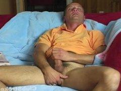 Mature Straight Dirty Jerking Off His Schlong