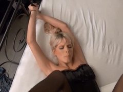 Blonde Babe Cuffed and Fucked