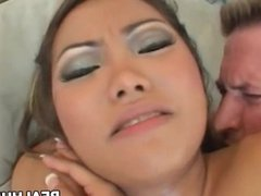 Asian Babe Lana Croft Gets Ass Fucked