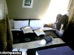 Milf Lia caught fingering in the living room