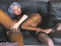 Lesbian Granny Loves Black Pussy