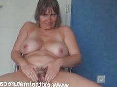 40 years Busty Milf cumming on home webcam