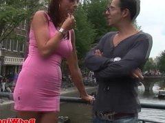 Busty hookers threeway fun in holland