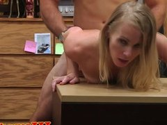 POV pawnshop fucking with blonde reality babe