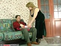Mature Womans Breasts Played With