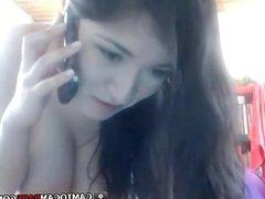 Hot whife girl webcam strip