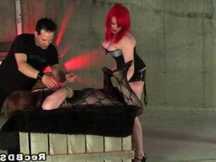 Bdsm couple submitting slave toy