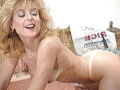 Nina Hartley riding a unicorn