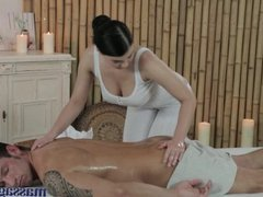Massage Rooms Big boobs masseuse enjoys 69