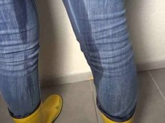 MDH Pissing Her Tight Jeans