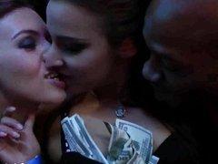 Bisexual club slags having public sex orgy