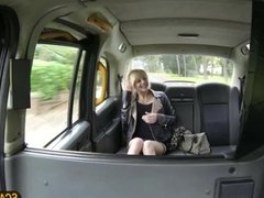 Pretty April gets pounded in the taxi