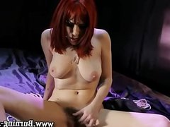 Solo emo babe gets off