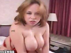 Thick Busty Slut Tit Fucks A Guy