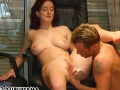 Busty girlfriend suck and fuck in the office