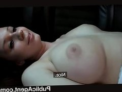 Brunette Teen with big boobs