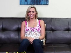 Real casting couch x blonde pussyfucked