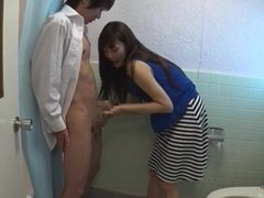 Asian Milf Gives Blowjob Lucky Guy