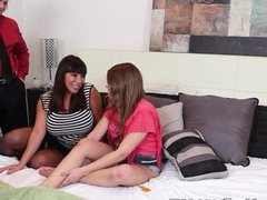 Ava Devine in Ass Fucking Teen 3some
