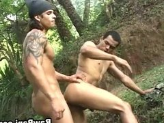 Gay Latino Men In A Steamy Outdoor Fucking