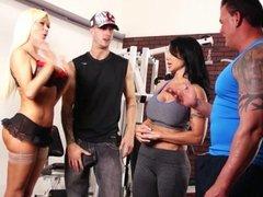 Nikita Von James Workout 4some