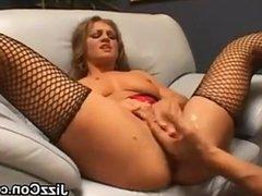 Dirty Blonde In Fishnet Stockings