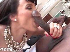 Interracial couple blowjob and sex