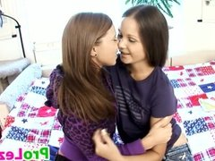 Lesbian Teens With A Dildo