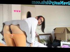 Cute Asian School Girl Fucked On Webcam