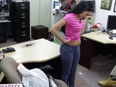 Hot exotic girl pawns her body for cash