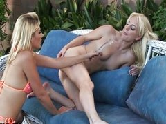 Kinky Angela Stone teen outdoor lesbian