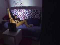 Alison Tyler masturbates in bed