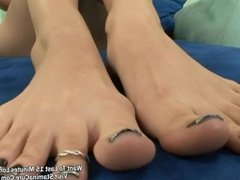 Blonde with nice foot nail fuck hardcore