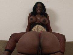 Naughty ebony lesbians enjoy wild kinky sex