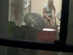 Spying on hot teen neighbor