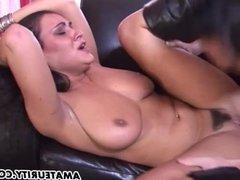Busty amateur girlfriend creampie cumshot