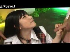 Uniformed Japanese Girl For Several Men