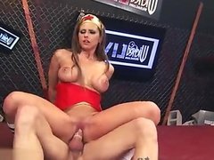 Hot housewife creampie eating