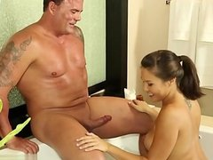 Young brothers shower sex