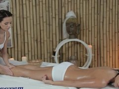Massage Rooms Two stunning brunettes