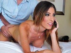 Hot housewife sucking huge cock